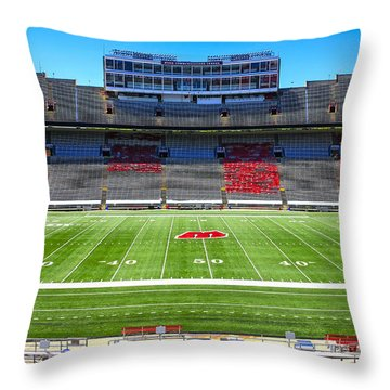Camp Randall Uw Madison Throw Pillow