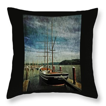 Cape Foulweather Tall Ship Throw Pillow by Thom Zehrfeld