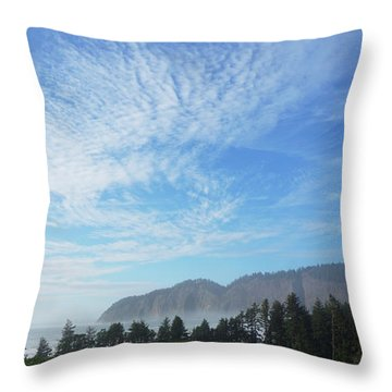 Cape Lookout Throw Pillow by Angi Parks