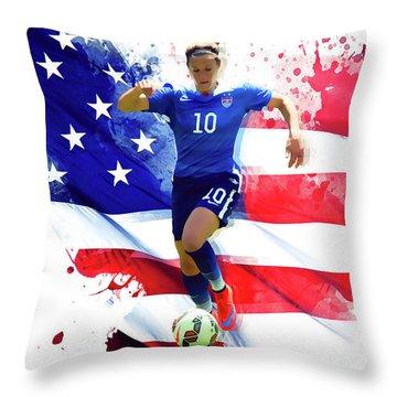 Carli Lloyd Throw Pillow
