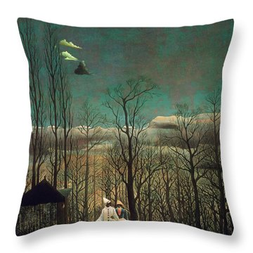 Carnival Evening Throw Pillow