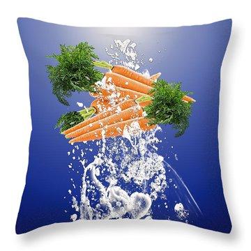 Carrot Splash Throw Pillow