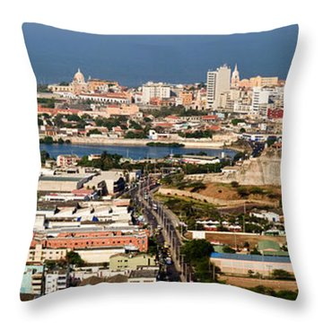 Cartegena Colombia Throw Pillow by Thomas Marchessault