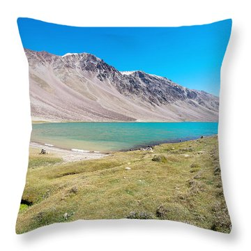 Throw Pillow featuring the photograph Chandratal Lake by Yew Kwang