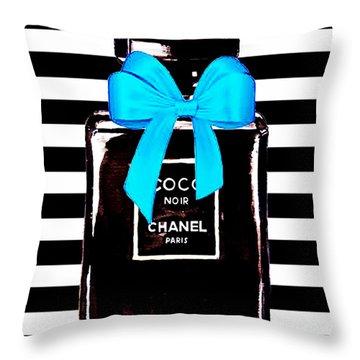 Chanel Noir Perfume  Throw Pillow