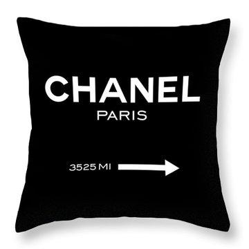 Coco Chanel Throw Pillows