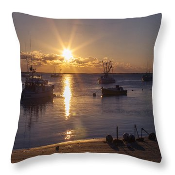 Throw Pillow featuring the photograph Chatham Sunrise by Charles Harden
