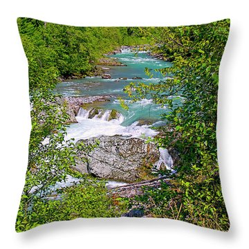 Throw Pillow featuring the photograph Cheakamus River by Sharon Talson