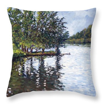 Cher-ful Lake Throw Pillow