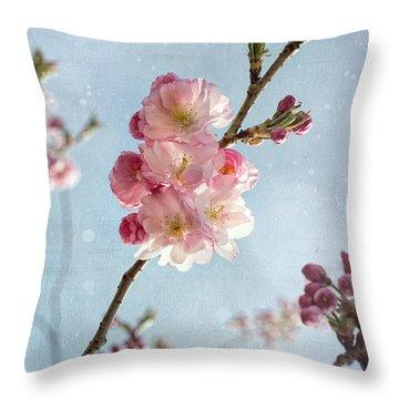 Cherrie Blossom Throw Pillow