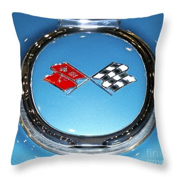 Chevy Corvette Throw Pillow