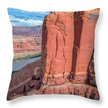 Chicken Corner Trail And Colorado River Throw Pillow