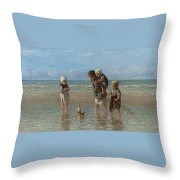 Children Of The Sea Throw Pillow