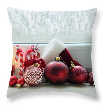 Christmas Windowsill Throw Pillow