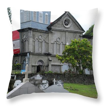 Throw Pillow featuring the photograph Church by Gary Wonning