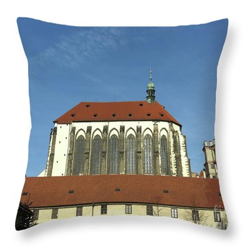 Throw Pillow featuring the photograph Church Of The Virgin Mary Of The Snow by Michal Boubin