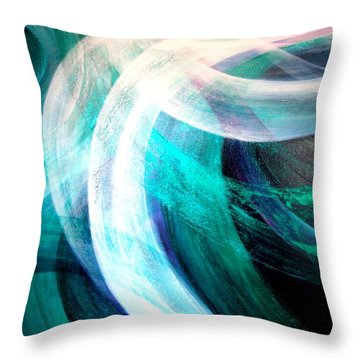 Circulation Throw Pillow