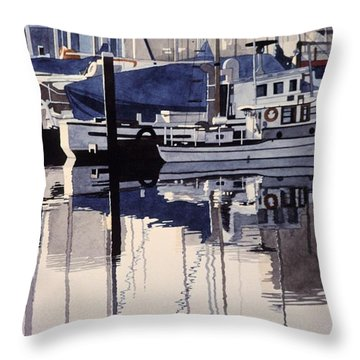 City Mooring Throw Pillow