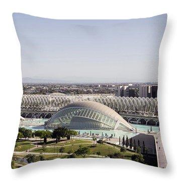 Ciudad De Las Artes Y Ciencias Valencia Throw Pillow