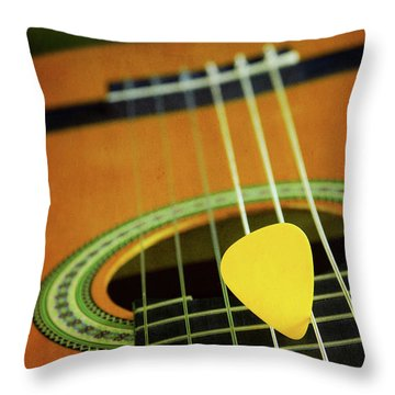 Classic Guitar  Throw Pillow