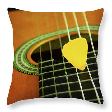Throw Pillow featuring the photograph Classic Guitar  by Carlos Caetano
