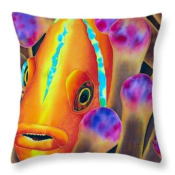 Clown Fish Throw Pillow