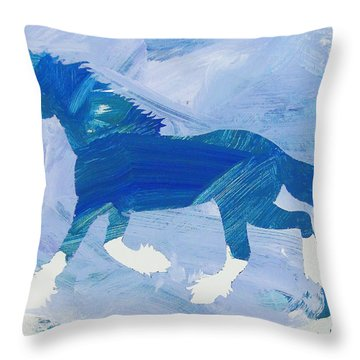 Clydesdale Dreams Throw Pillow