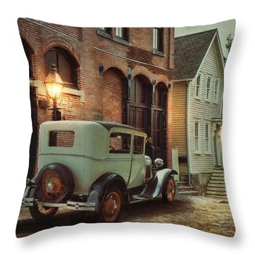Throw Pillow featuring the photograph Cobblestone Streets by Robin-Lee Vieira