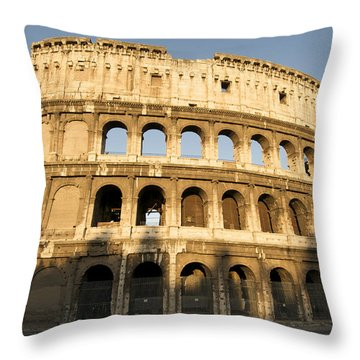 Coliseum. Rome Throw Pillow by Bernard Jaubert