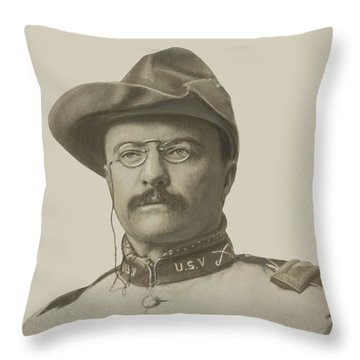 Colonel Theodore Roosevelt Throw Pillow by War Is Hell Store