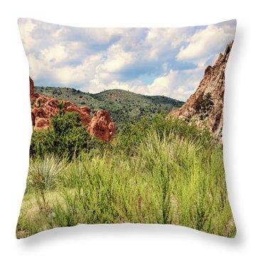 Colorado In Summer Throw Pillow