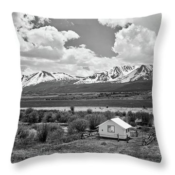 Colorado Mountain Vista Throw Pillow by L O C