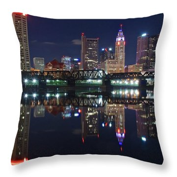 Columbus Ohio Throw Pillow by Frozen in Time Fine Art Photography