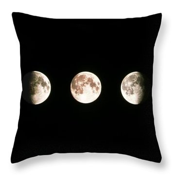 Full Moon Throw Pillows