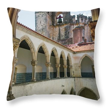 Convent Of Christ In Tomar Throw Pillow