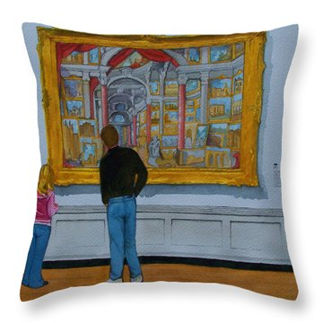 Counting Pannini Throw Pillow by Lynn Babineau