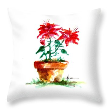 Cracked Pot  Throw Pillow