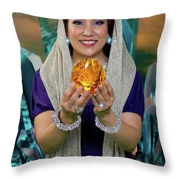 Crystal Goddess Throw Pillow by David Clanton