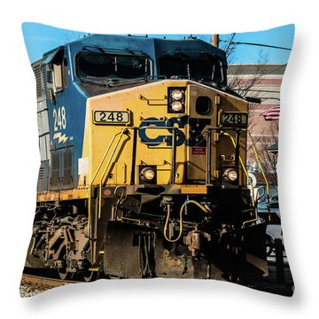 Csx Engine Gaithersburg Maryland Throw Pillow