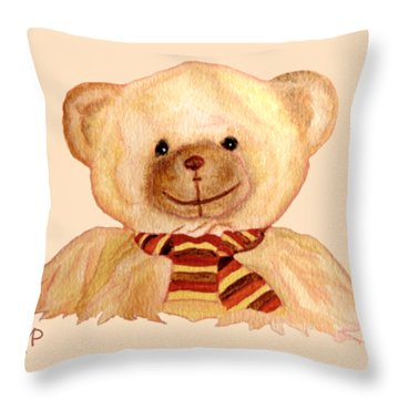 Cuddly Bear Throw Pillow
