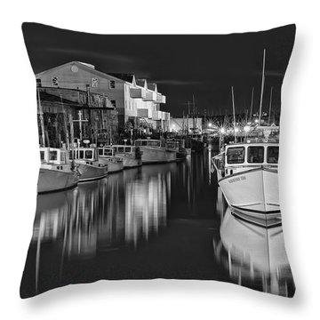 Custom House Wharf Throw Pillow by Richard Bean
