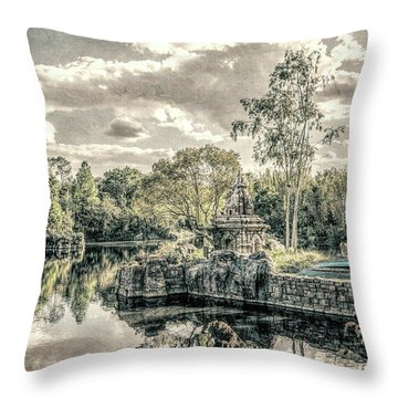 Throw Pillow featuring the photograph D Abstract Photography by Kevin Blackburn