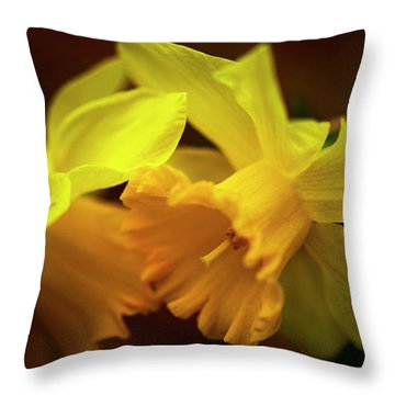 2 Daffodils Throw Pillow
