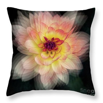 Throw Pillow featuring the photograph Dahlia 'keith H.' by Ann Jacobson