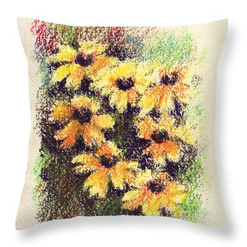 Daisies Throw Pillow by Rachel Christine Nowicki