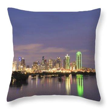 Dallas Skyline Twilight Throw Pillow