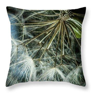 Dandelions Throw Pillow by Iris Greenwell