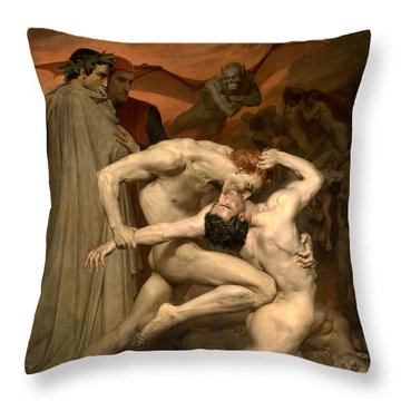 Dante And Virgil In Hell  Throw Pillow