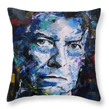 Throw Pillow featuring the painting David Bowie by Richard Day