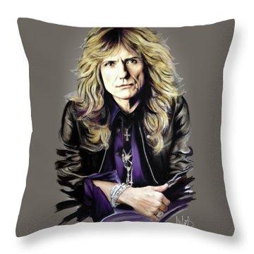 David Coverdale 1 Throw Pillow